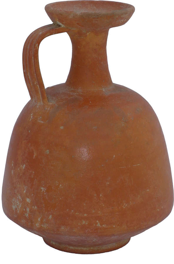 A Roman North African red slip flagon, c. 3rd-4th Century A.D.