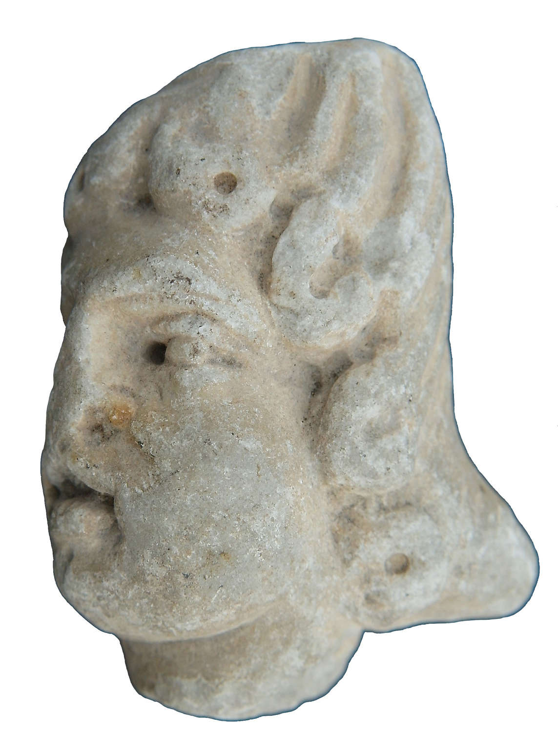 A Roman white marble head of a youth, c. 1st-3rd Century A.D.