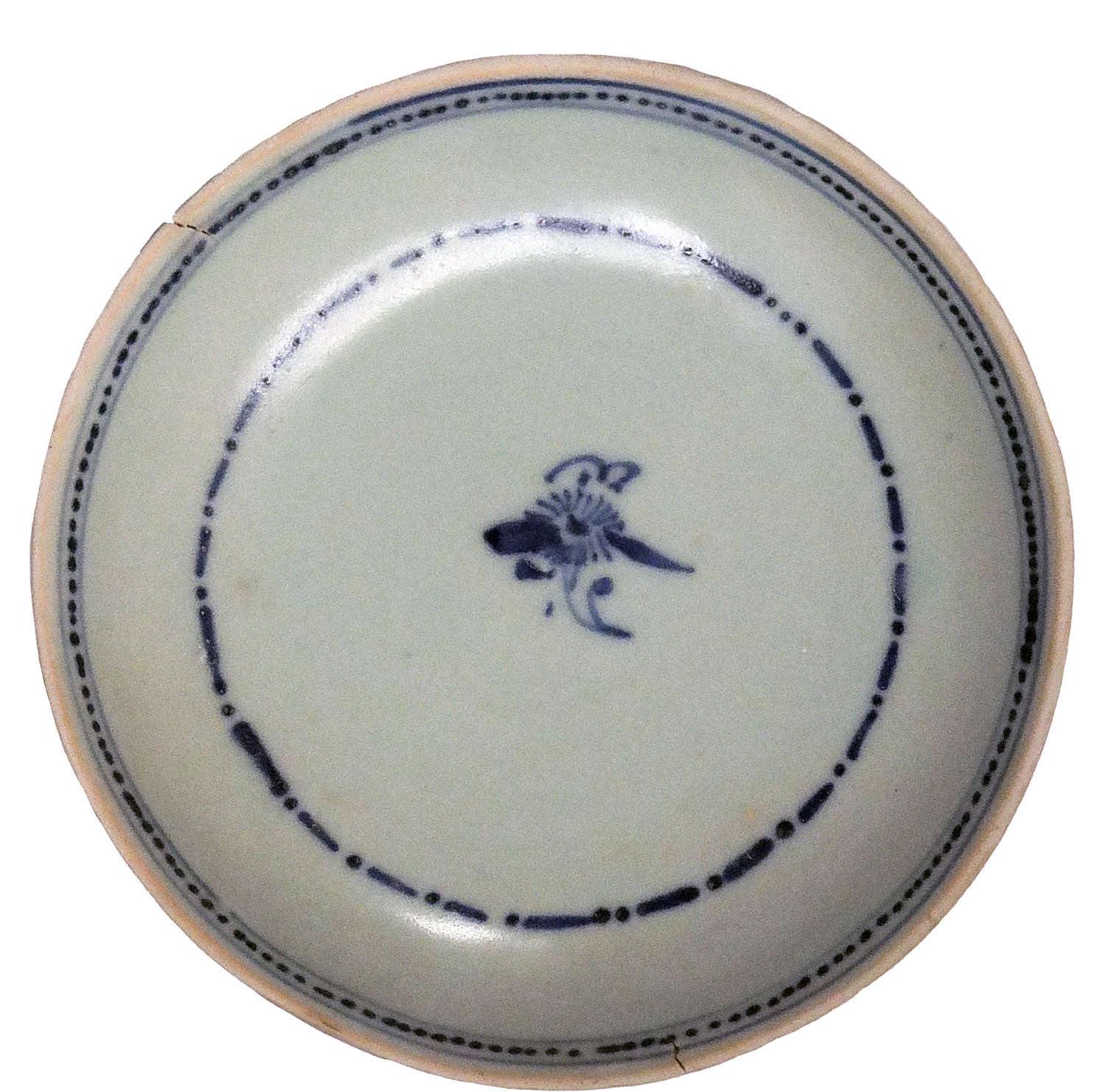 A Chinese Tek Sing shipwreck blue and white porcelain cargo bowl