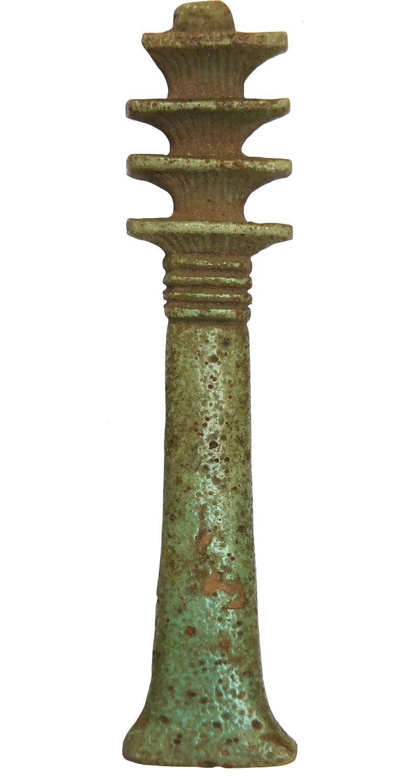 An unusually large Egyptian Djed column amulet, c. 730-300 B.C.