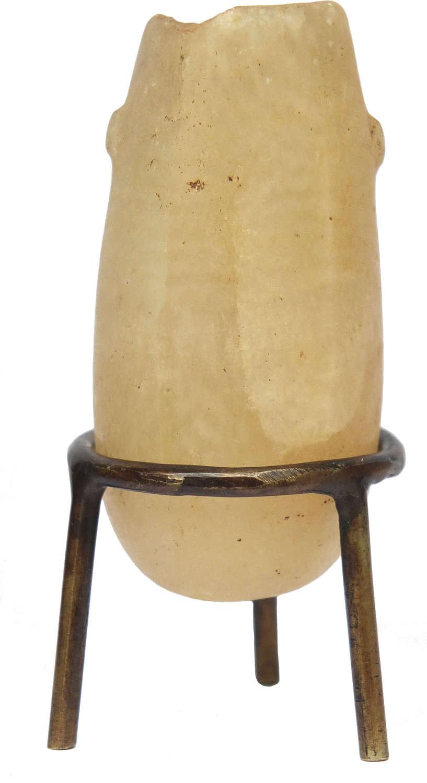 An Egyptian miniature alabastron, c. 1000-332 B.C.