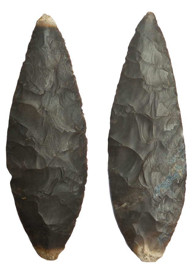 Two fine American Indian brown chert cache blades from Kentucky