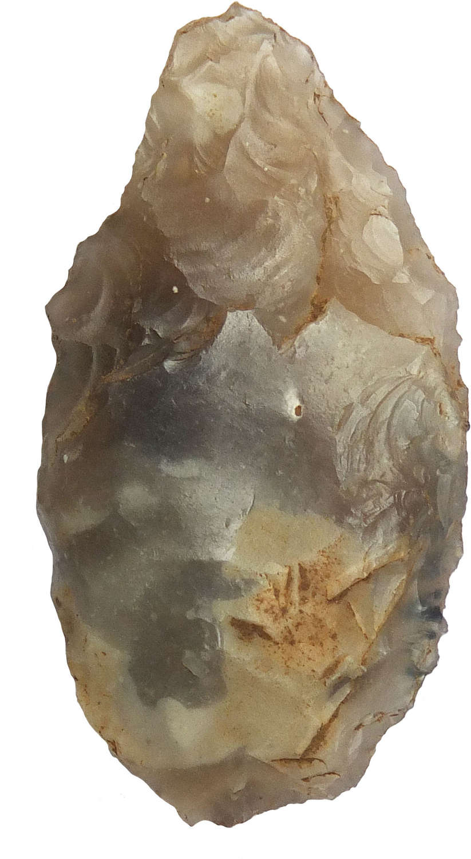 An Early Neolithic flint arrowhead found at Frensham, Surrey