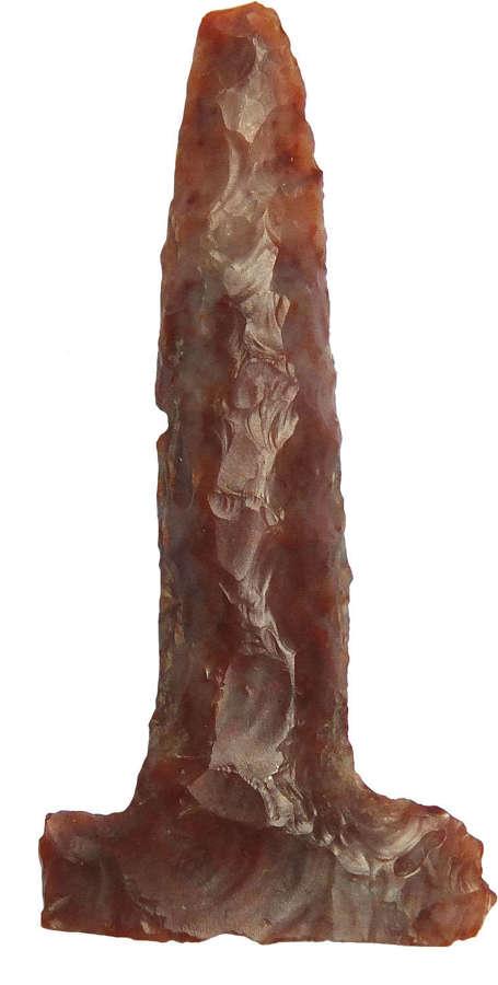 A North American Indian Archaic flint T-drill, c. 8000-1000 B.C.