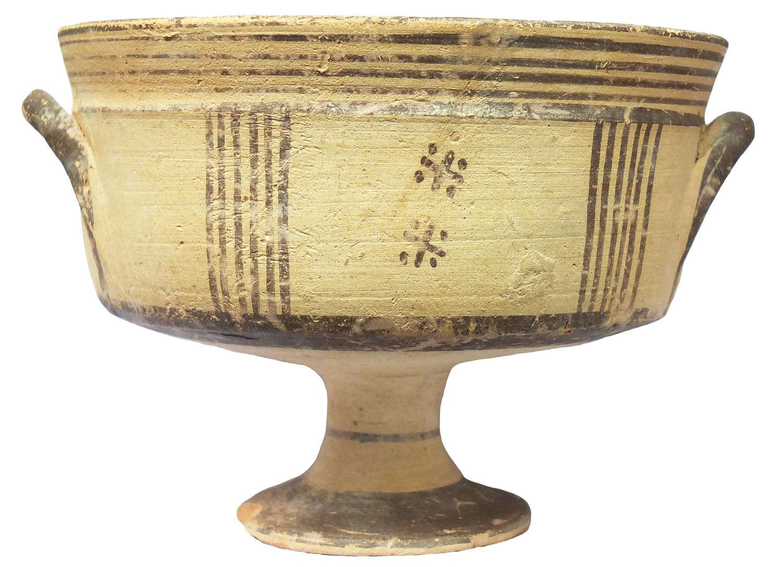 A Cypriote Bichrome Ware stemmed chalice c. 850-700 B.C.